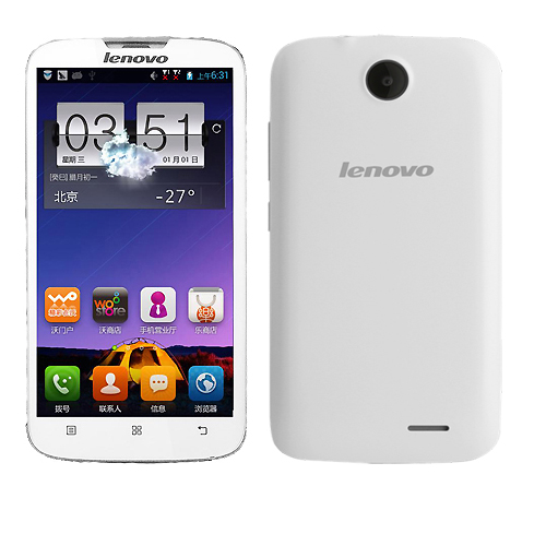 Lenovo A560 Smartphone Android 4.3 MSM8212 Quad Core 5.0 Inch IPS Screen 3G White
