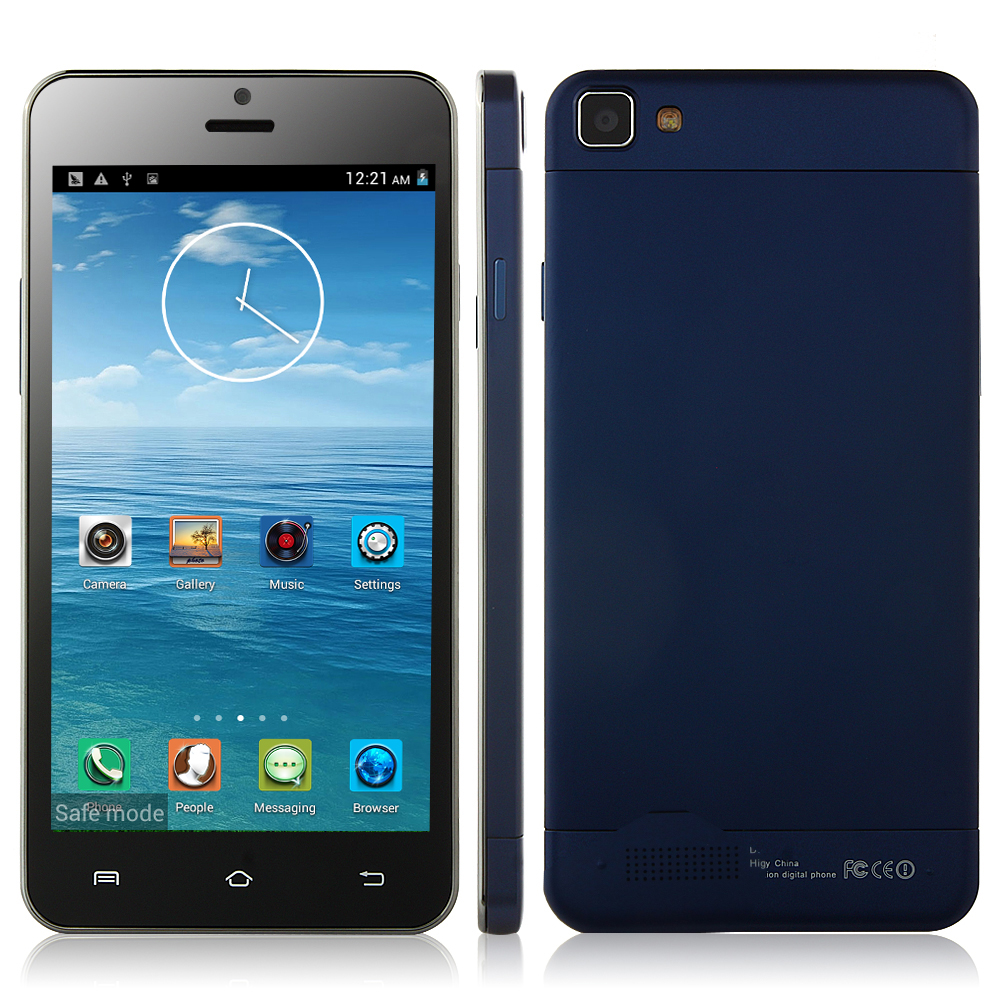 Tengda X3SW Smartphone Android 4.2 MTK6582 Quad Core 5.0 Inch QHD Screen OTG Dark Blue