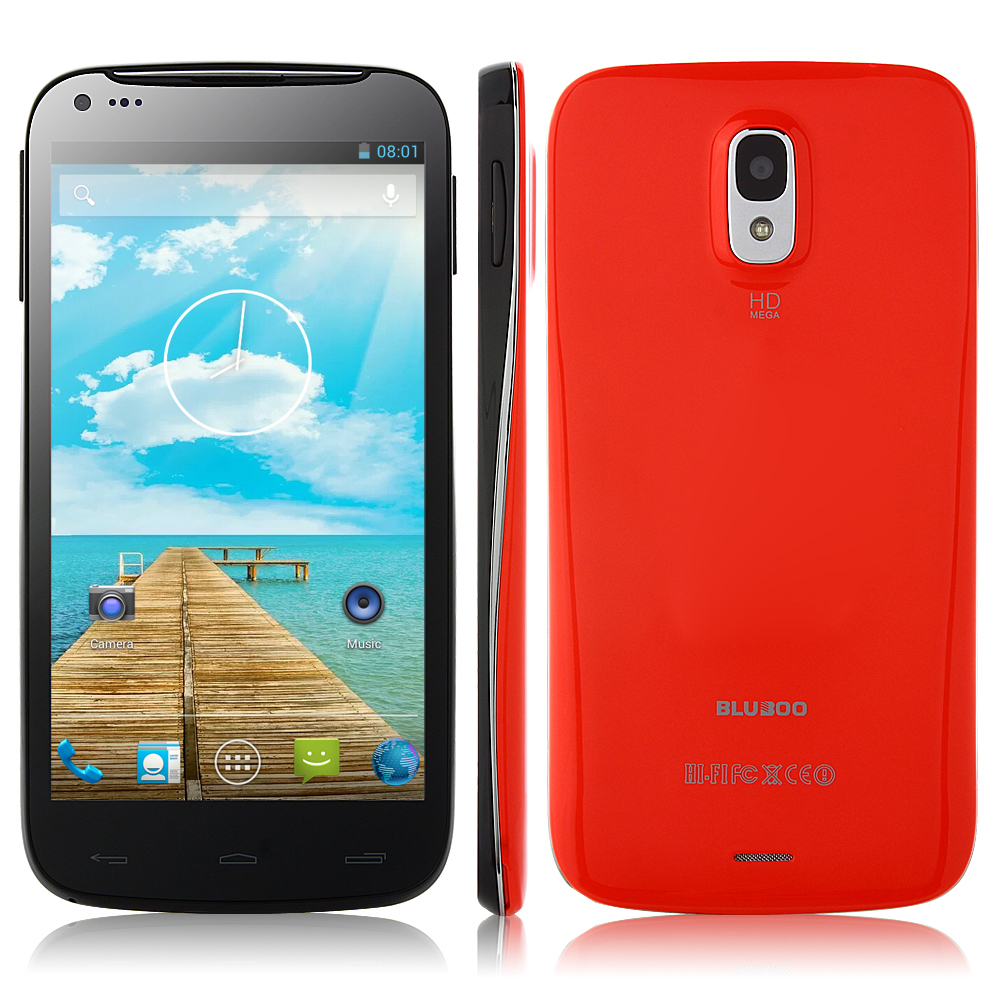 BLUBOO X1 Smartphone Android 4.2 MTK6582 1GB 4GB 5.0 Inch QHD IPS Screen 3G GPS Red