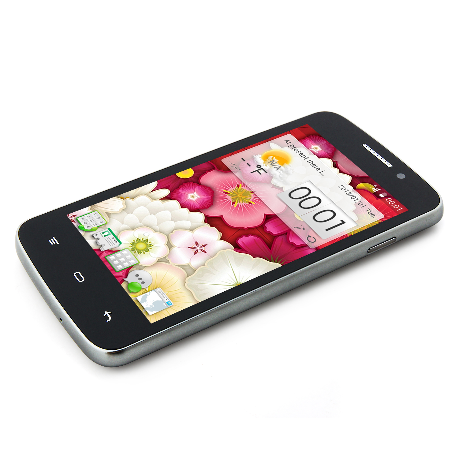 MIXC G7108 Smartphone Android 4.2 MTK6572W Dual Core 4.3 Inch 3G GPS Black