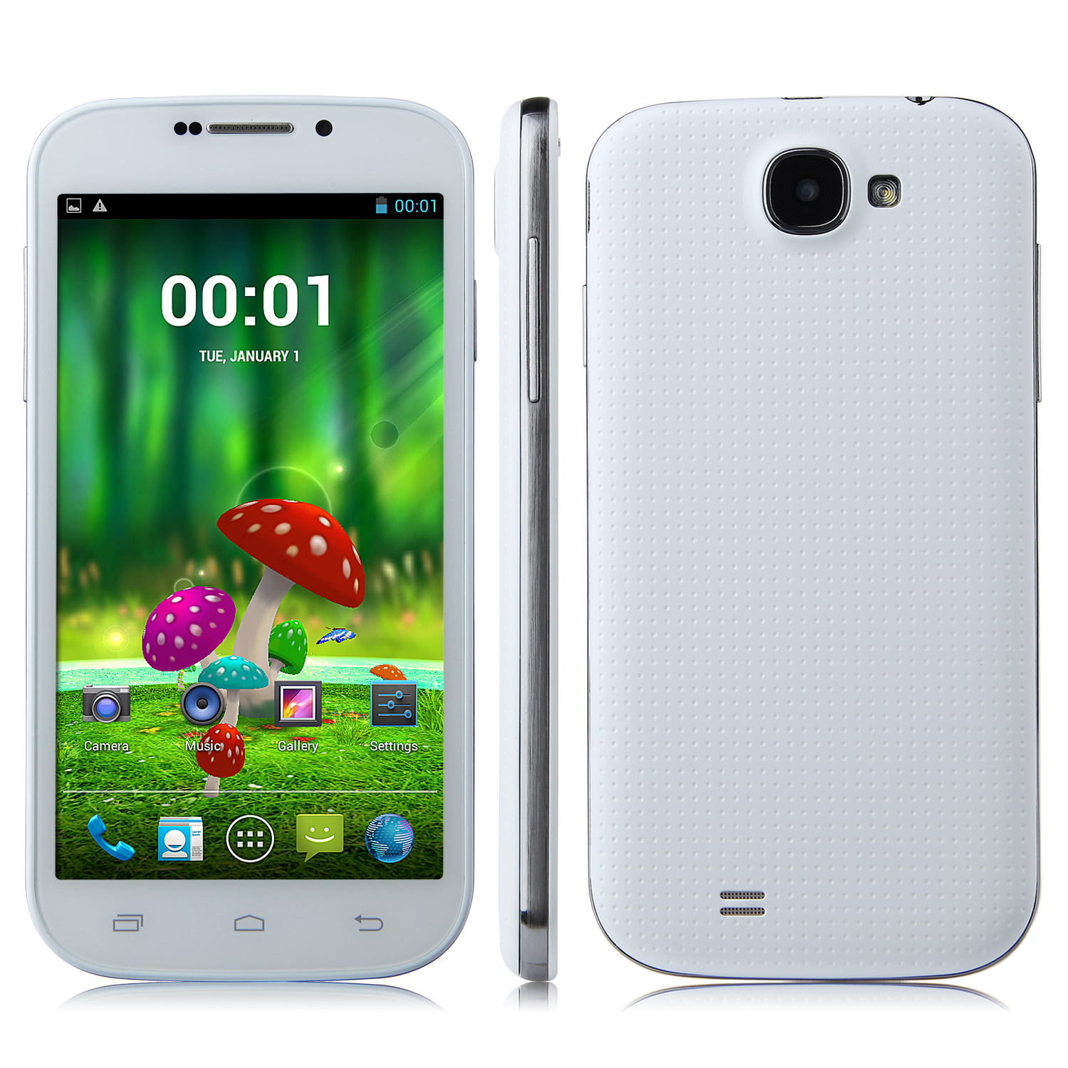 Tengda 9006 Smartphone Android 4.2 MTK6582 Quad Core 5.0 Inch Gesture Sensing 3G White