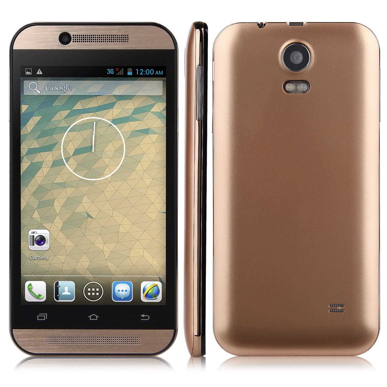 Tengda Mini M8 Smartphone Android 4.2 MTK6572W 4.3 Inch 3G GPS Golden