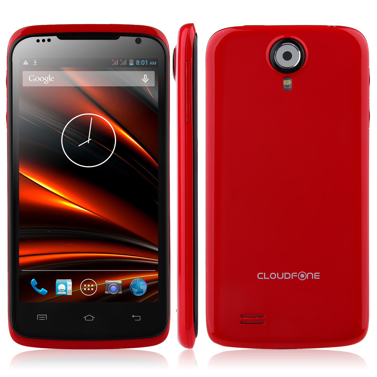 CloudFone Excite 470q Smartphone MTK6582 Android 4.2 1GB 4GB 4.7 Inch 3G GPS- Red
