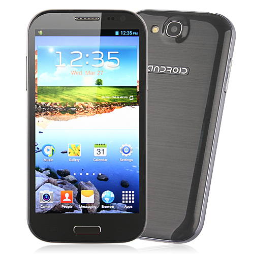 Used Feiteng H9500 S4 Smartphone Android 4.2 MTK6589 5.0 Inch HD IPS Screen - Grey