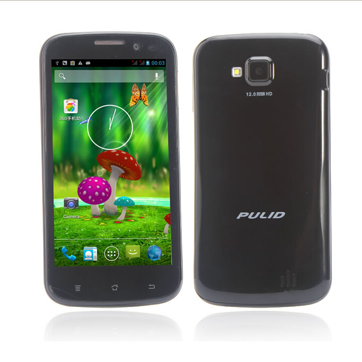 Pulid F15 Smartphone MTK6589 4.5 Inch QHD IPS Screen 12.0MP Camera 3G Android 4.2 Black