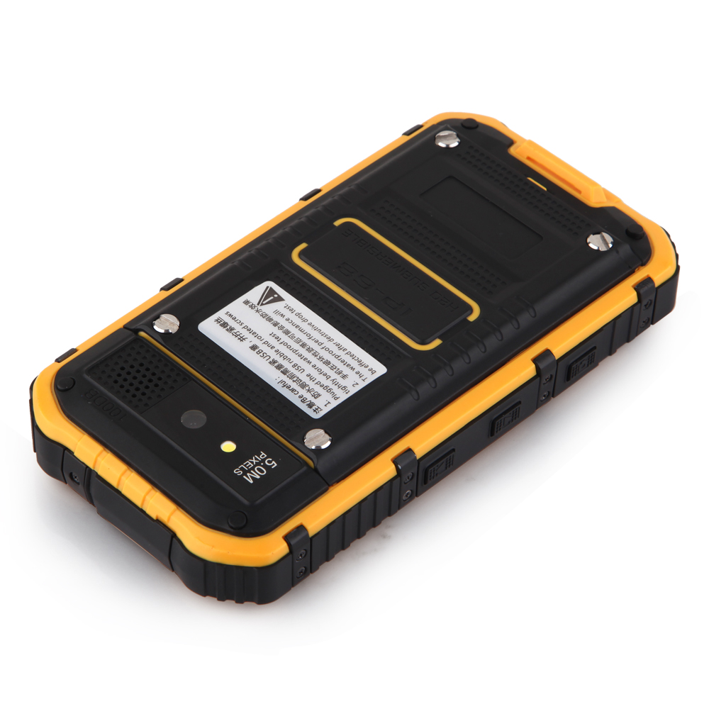 A8 Smartphone IP68 Android 4.2 MTK6572W SOS Power Bank 3000mAh Battery - Black & Orange