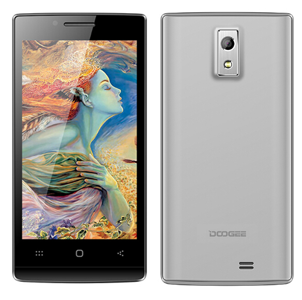 DOOGEE LATTE DG450 Smartphone MTK6582 4.5 Inch IPS Screen 1GB 4GB Android 4.2 - Silver