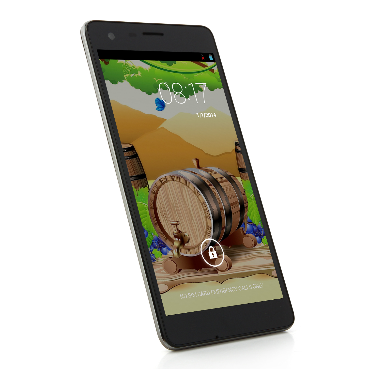 CUBOT S222 Slim Smartphone MTK6582 5.5 Inch HD OGS Screen 1GB 16GB Android 4.4 - Black