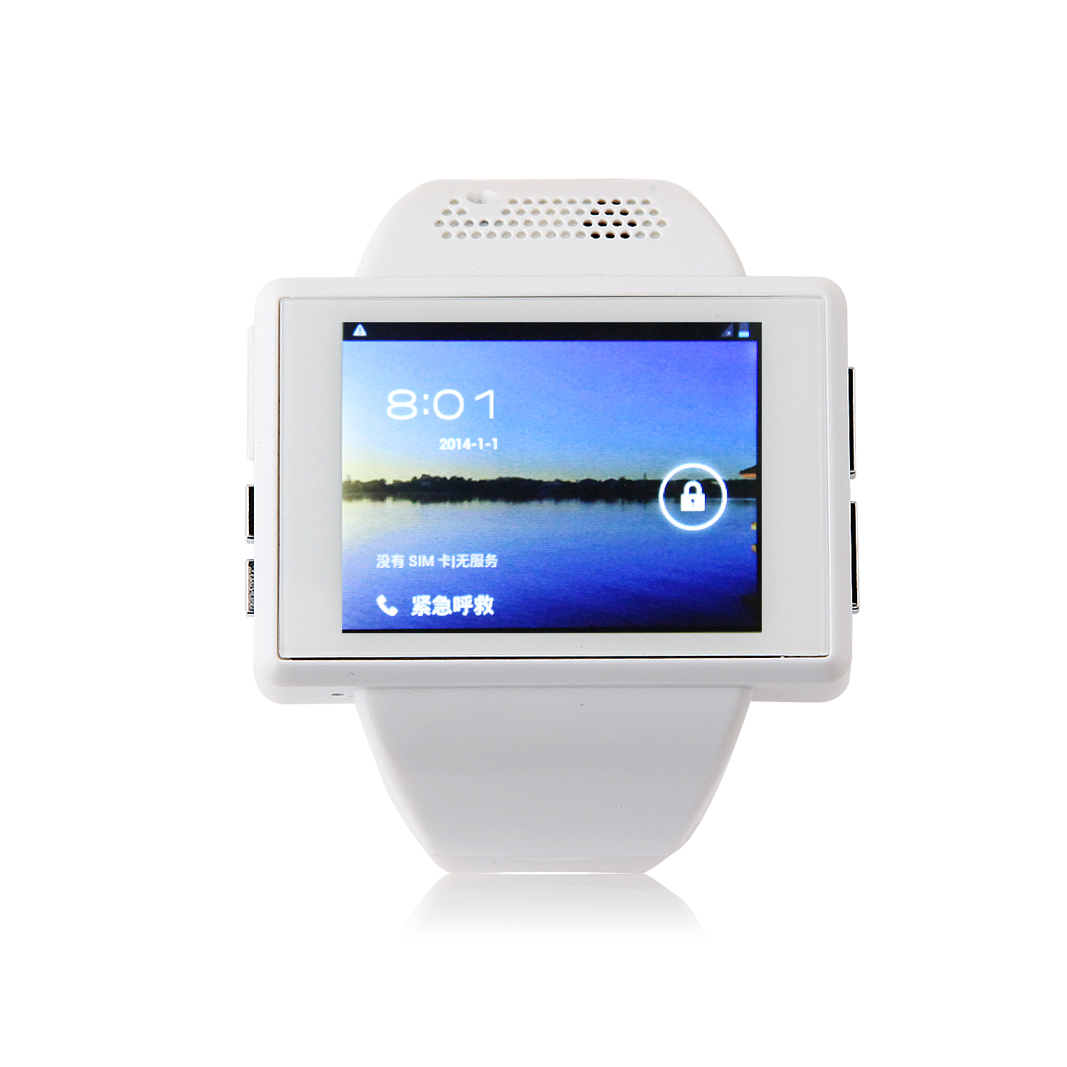 An1 Smart Watch Phone 2.0 Inch MTK6515 Android 4.1 Camera GPS WiFi - White