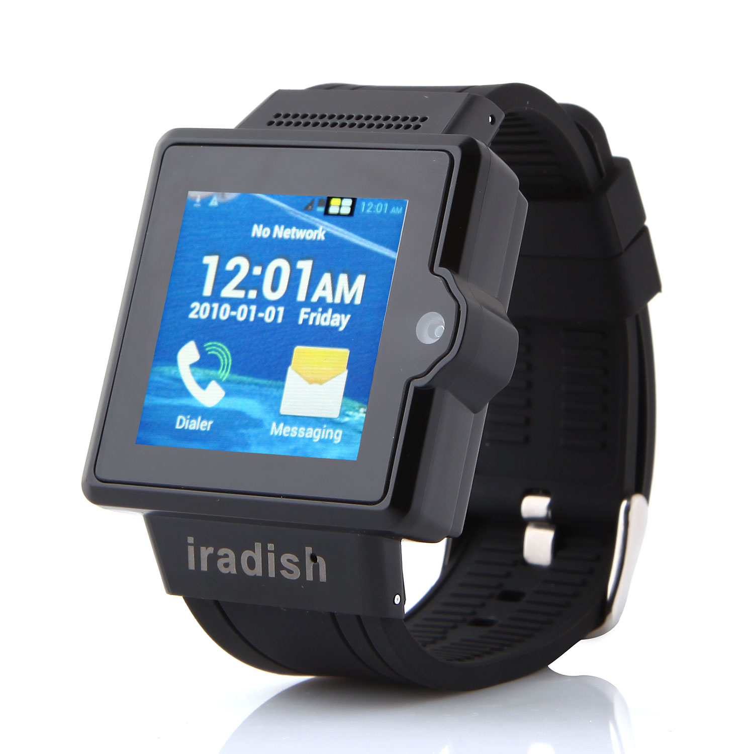 I6 Watch Phone 1.54 Inch MTK6577 Android 4.0 Camera 4GB GPS 3G - Black