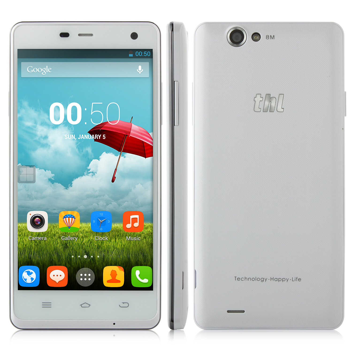 ThL Ultrathin 4400 Smartphone 5.0 Inch HD Gorilla Glass MTK6582 Smart Gesture 4400mAh
