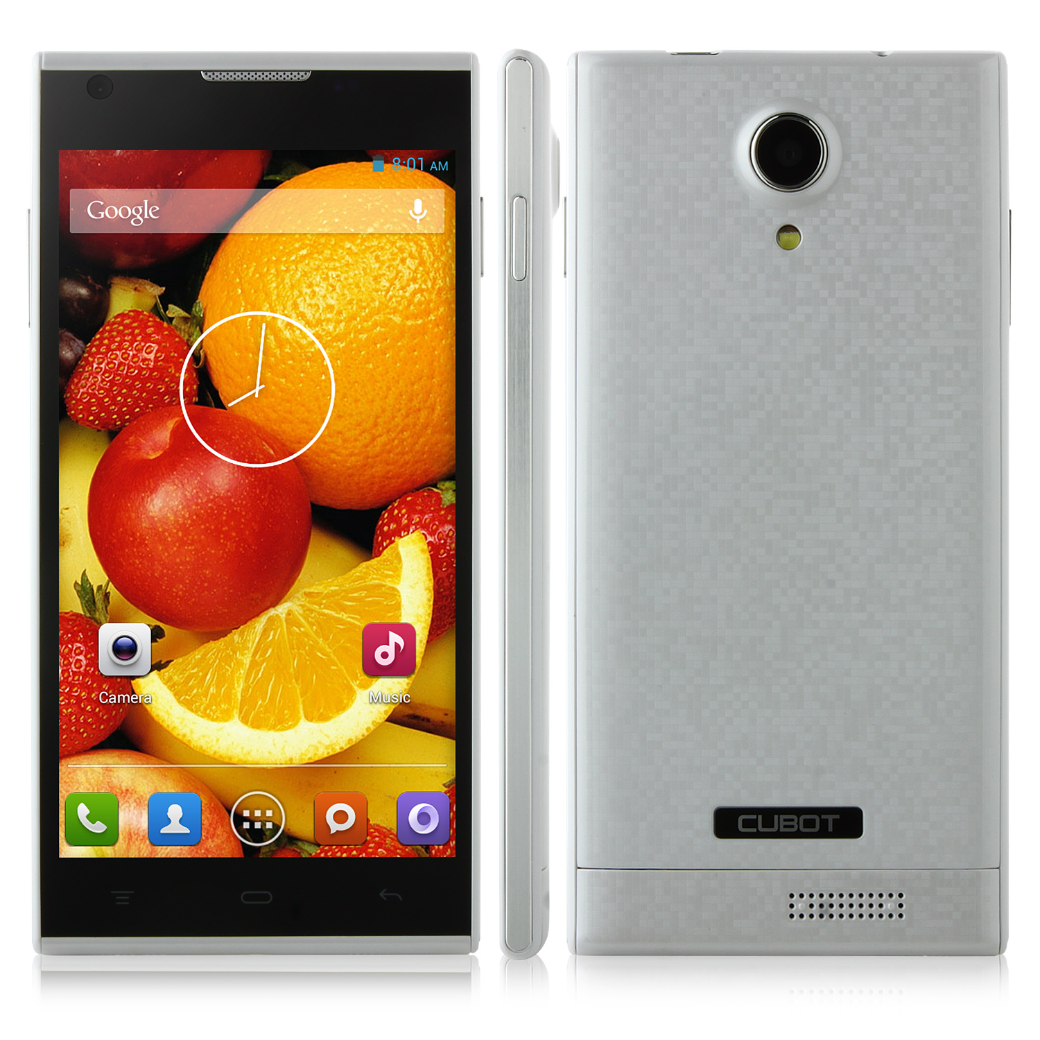 CUBOT P7 Smartphone MTK6582 5.0 Inch QHD IPS Screen Android 4.2 - White
