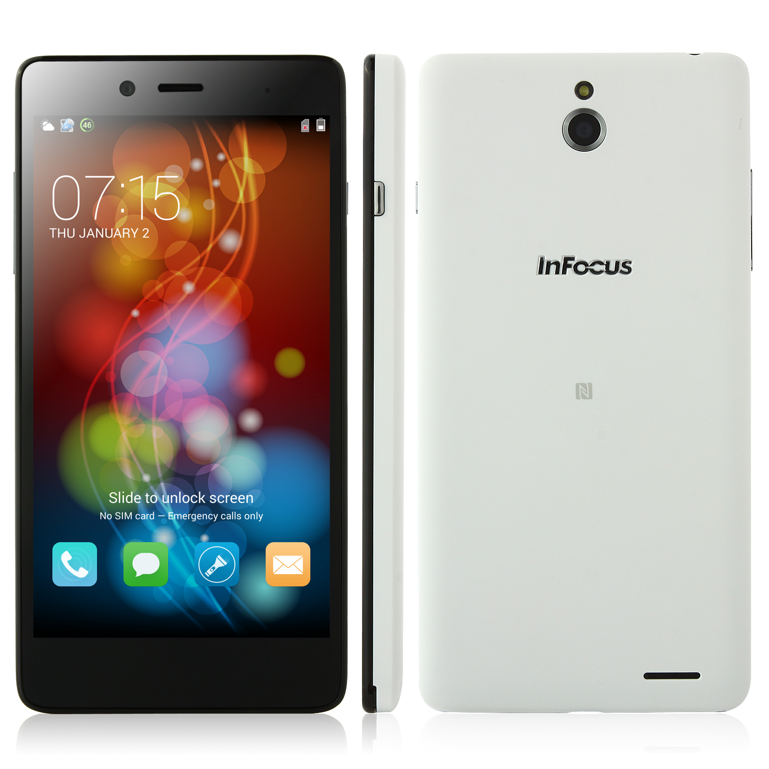 Used Foxconn InFocus M512 Smartphone 4G LTE Snapdragon 400 5.0 Inch Gorilla Glass NFC