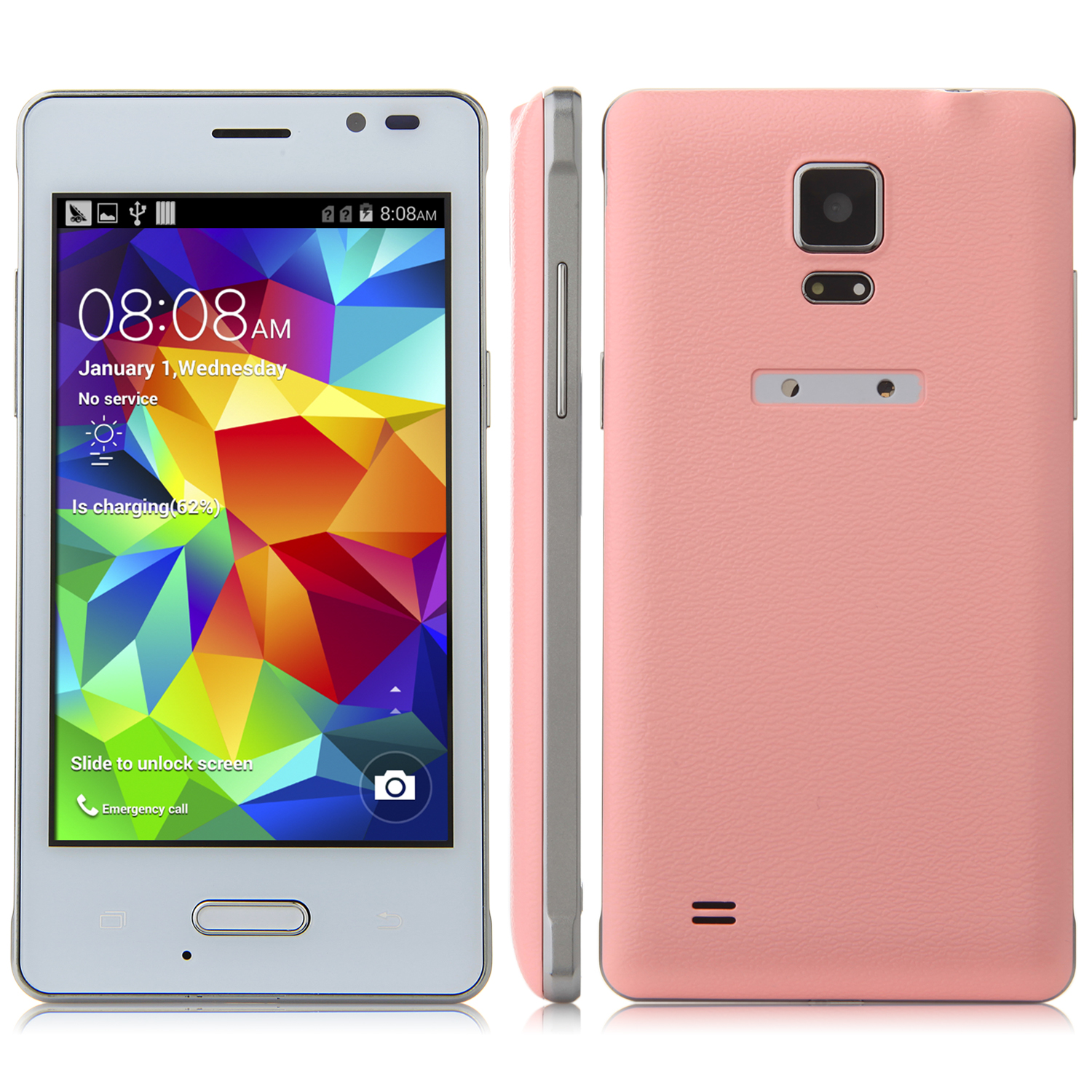 Tengda Q6 Smartphone Android 4.4 MTK6572 3G 4.0 Inch - Pink