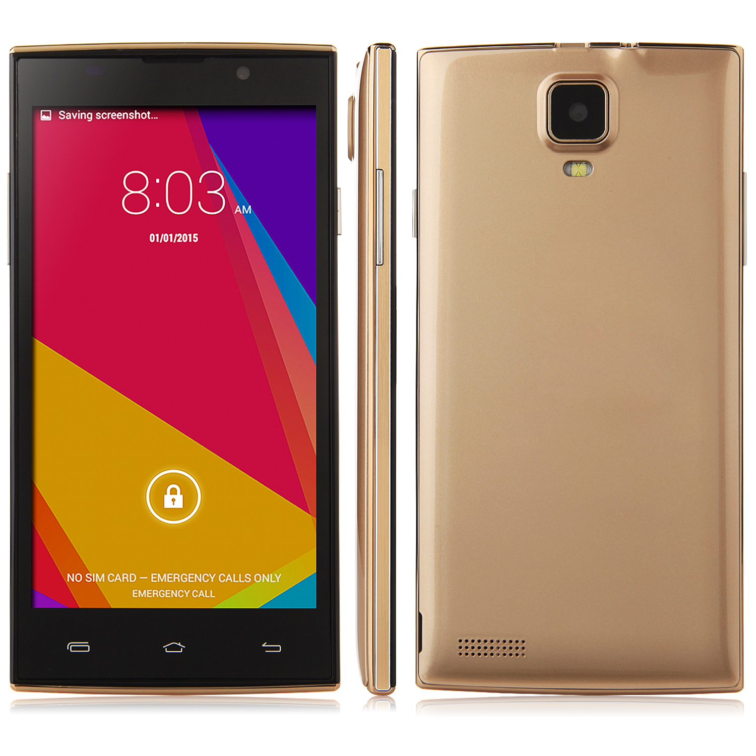 N730 Smartphone Android 4.4 MTK6582 5.0 inch QHD 3G GPS 1G 8G Smart Wake - Golden
