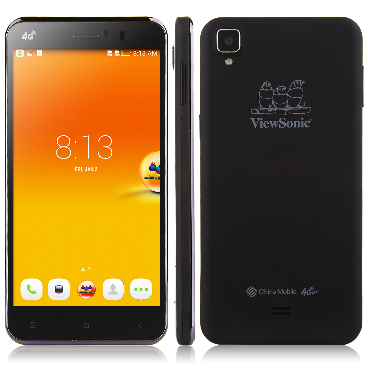 ViewSonic V500 Smartphone 4G 5.5 Inch FHD 2GB 16GB MSM8926 Quad Core Android 4.4 Black