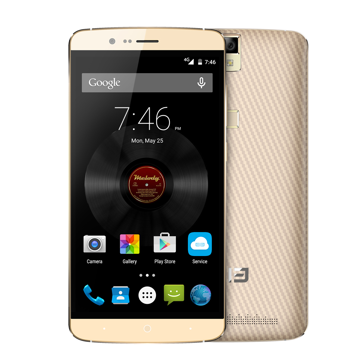 Elephone P8000 Smartphone Touch ID 4G 5.5 Inch FHD 3GB 16GB MTK6753 Octa Core Golden