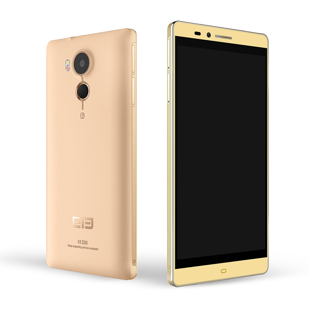 Elephone Vowney Smartphone 5.5 Inch 2K Screen 4GB 32GB MTK6795 Octa Core Touch ID Gold