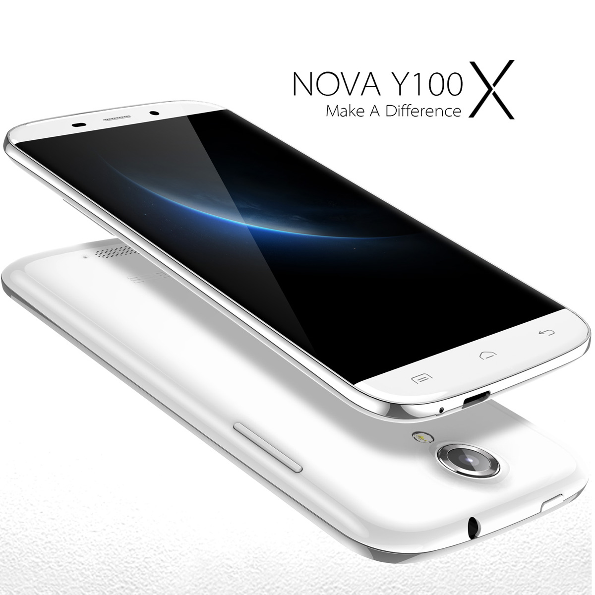 DOOGEE NOVA Y100X Smartphone Bezelless 5.0 Inch OGS Gorilla Glass Android 5.0- White