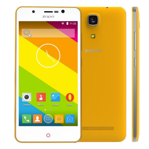 ZOPO ZP350 Smartphone 5.0 Inch HD IPS 4G 64bit Quad Core Android 5.1 Front LED- Yellow