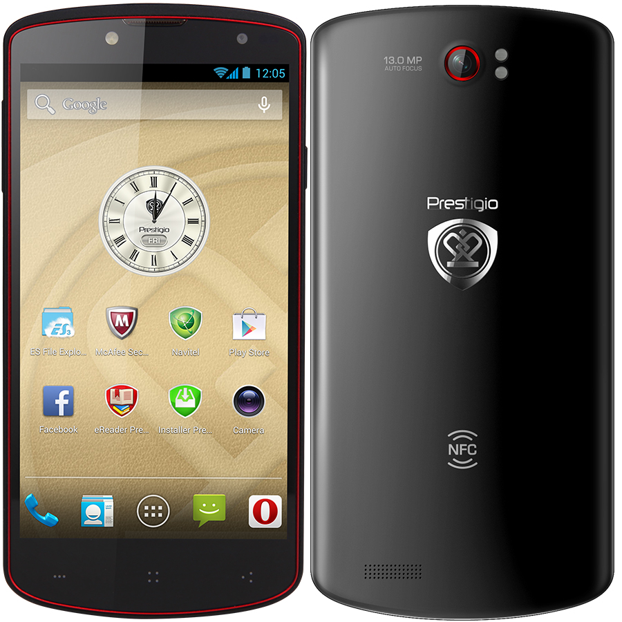 Prestigio MultiPhone 7500 MTK6589T 1.5GHz 5.0 Inch FHD 2GB 32GB NFC 13.0MP Black