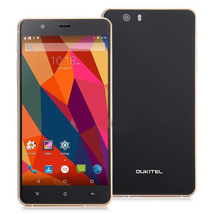 OUKITEL U9 Smartphone 5.5 Inch FHD Arc Screen 3GB 16GB MTK6753 Octa Core 4G LTE- Black