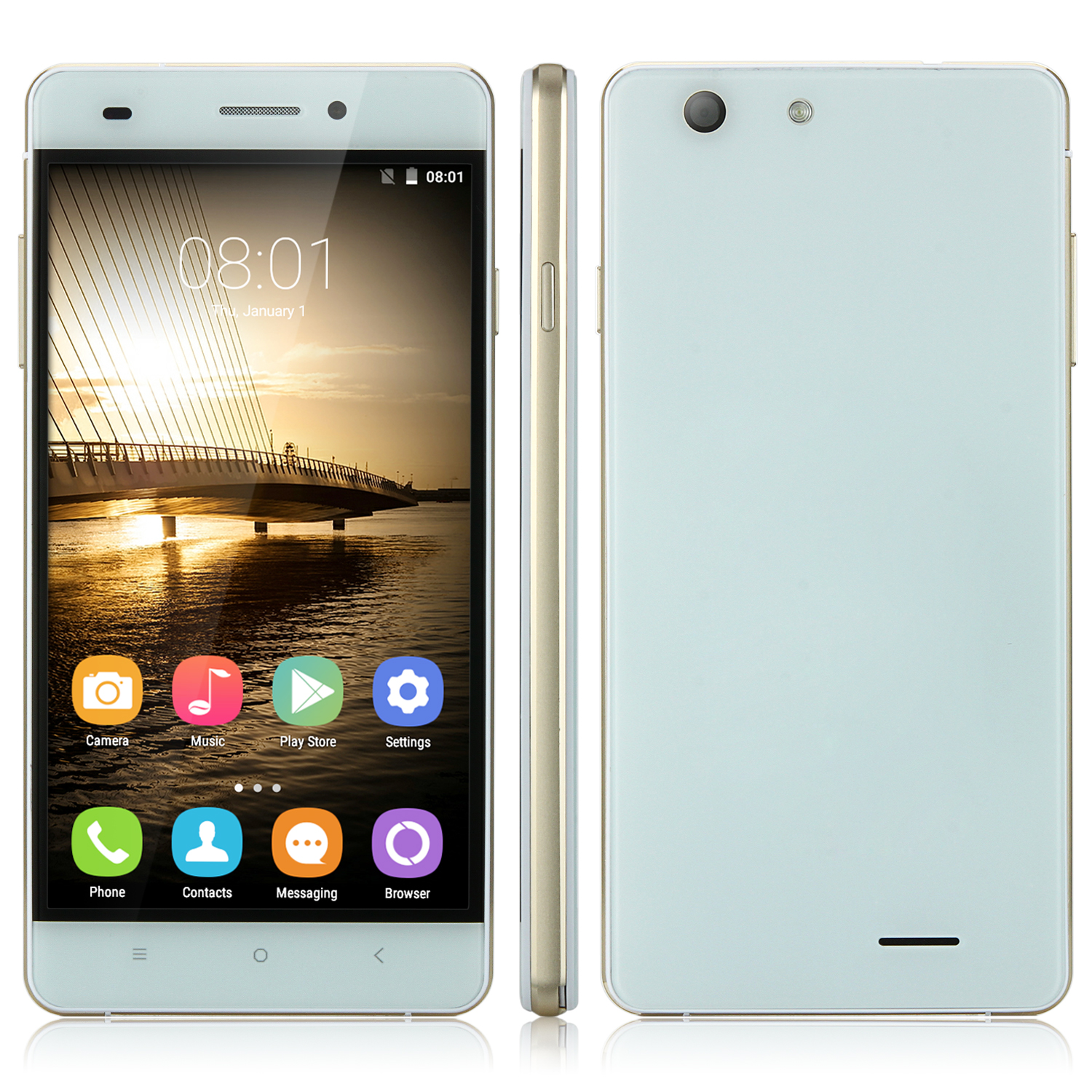 OUKITEL U2 Smartphone Double Glass 4G LTE 64bit Quad Core 5.0 Inch Android 5.1 - White