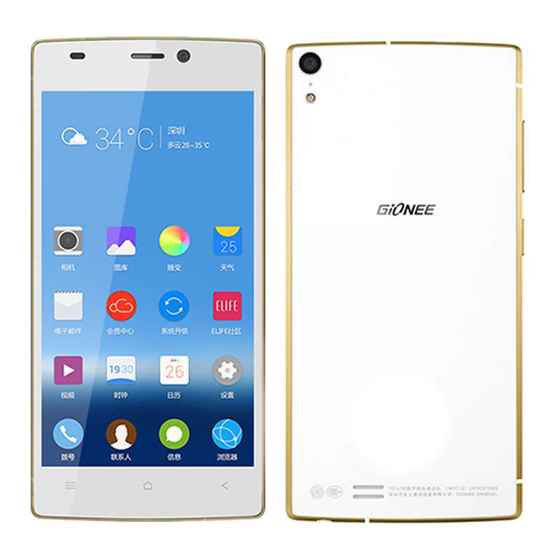 GIONEE S5.5 Smartphone 5.0 Inch Super AMOLED FHD Screen 2GB 16GB 13.0MP- White