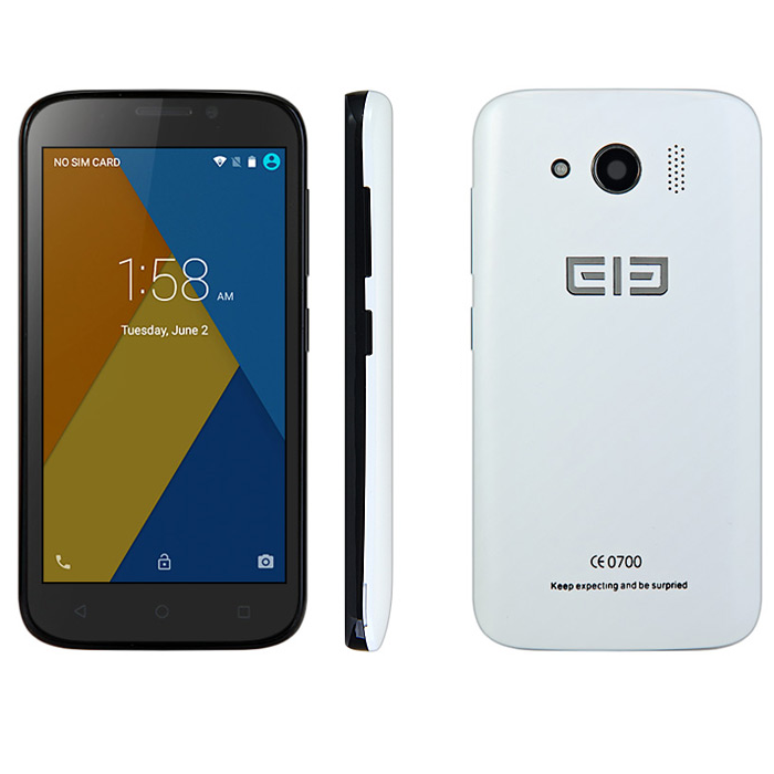 Elephone G9 4G Smartphone Android 5.1 64bit MTK6735M Quad Core 1.0GHz 4.5 Inch White
