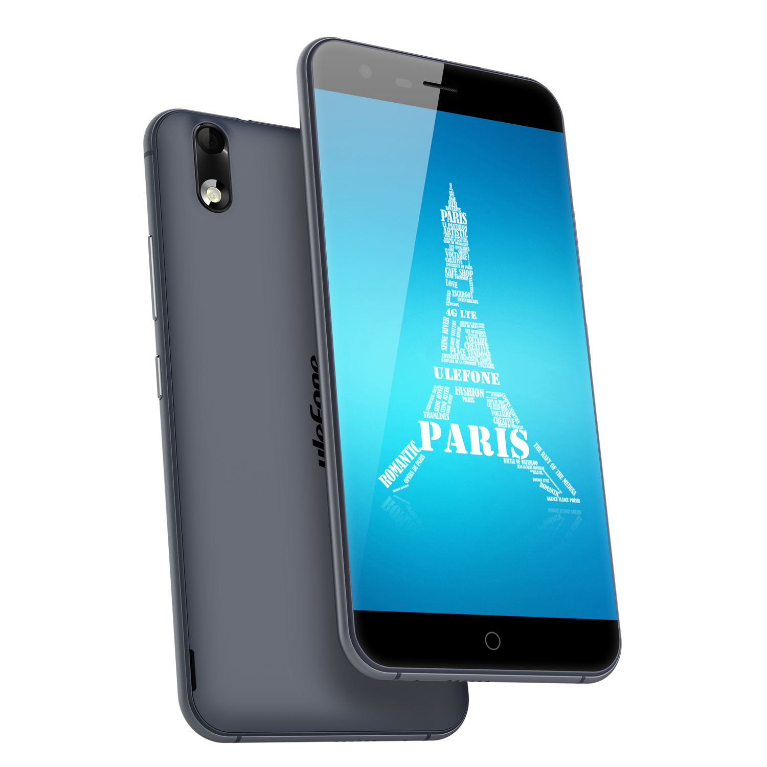 ulefone Paris 4G Smartphone MT6753 Octa Core 2GB 16GB Black + Free Accessory Set