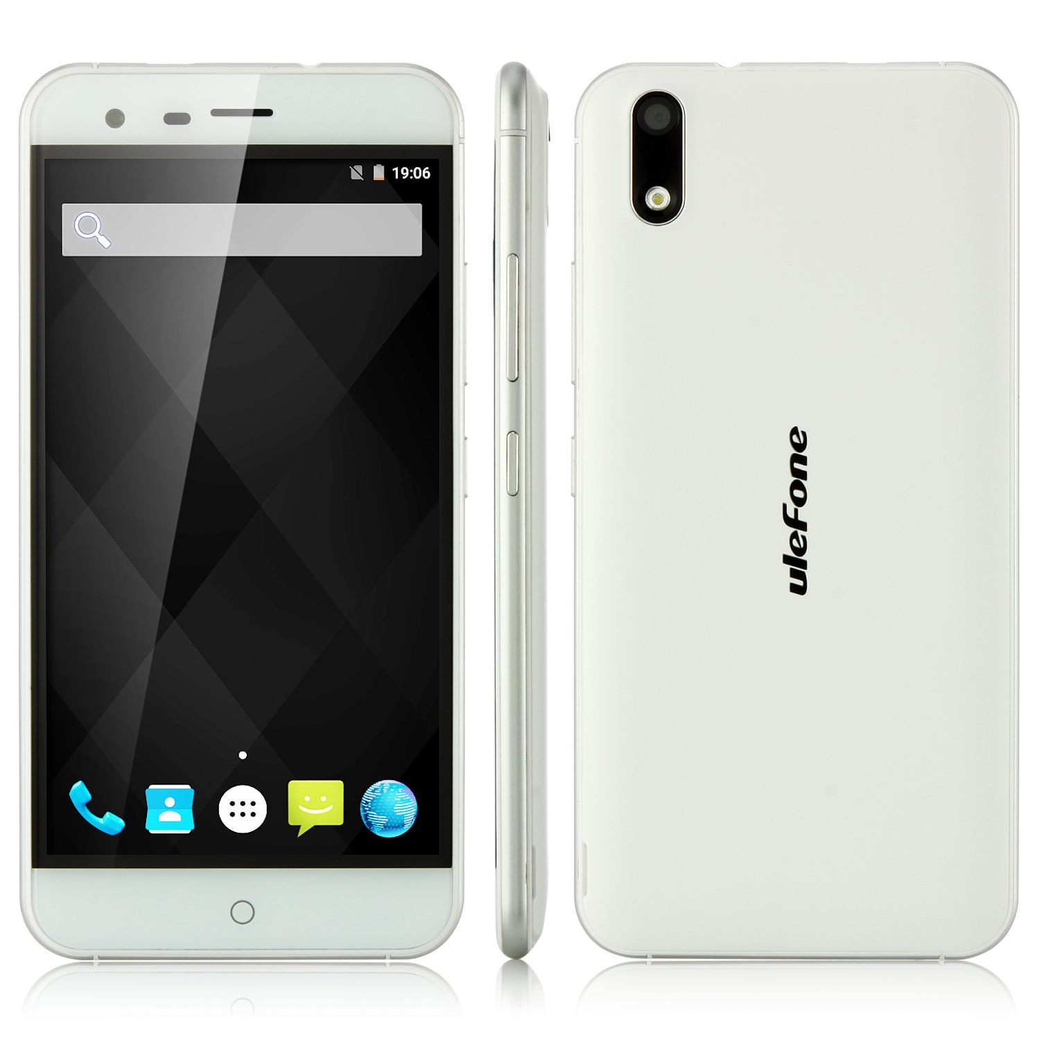 ulefone Paris 4G Smartphone MT6753 Octa Core 2GB 16GB White + Free Accessory Set