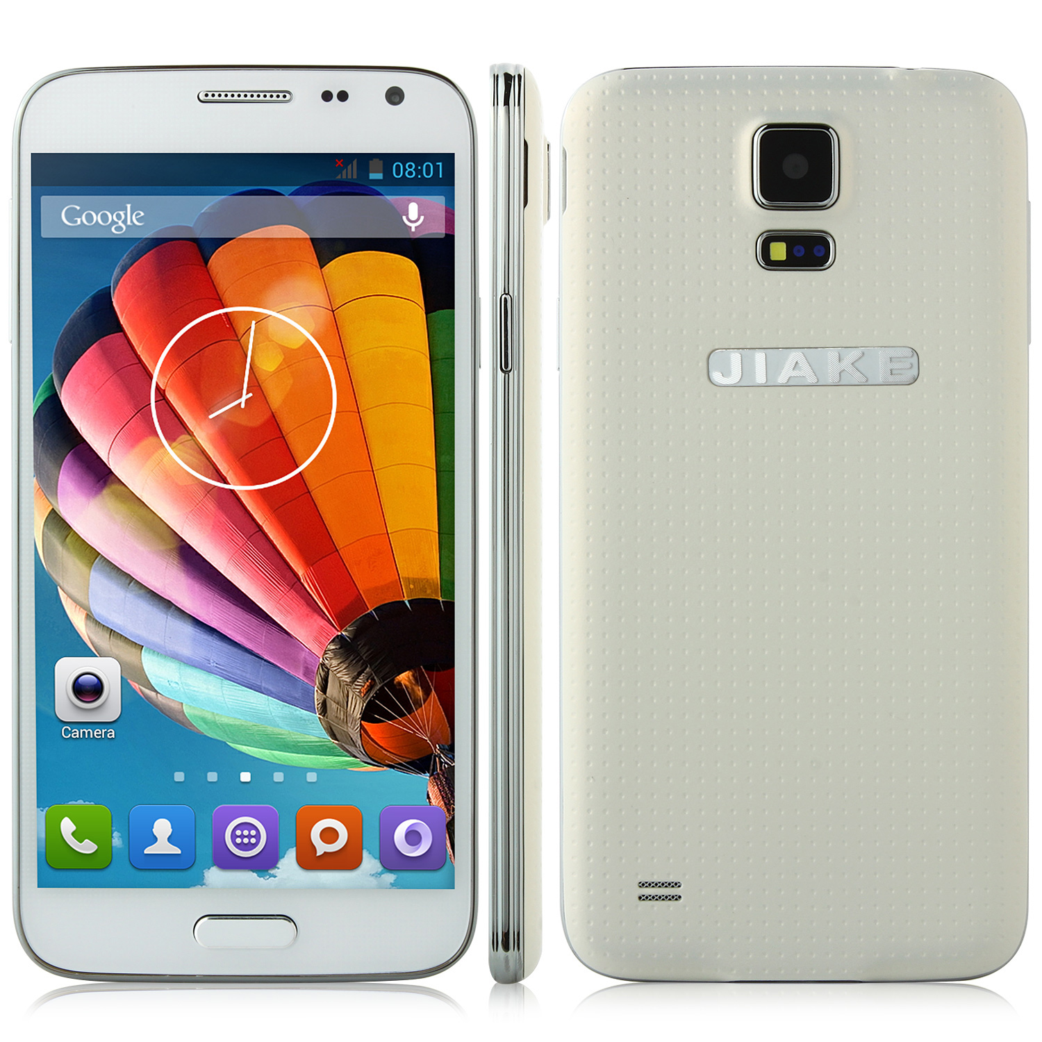 JIAKE G900W Smartphone Android 4.2 MTK6582 5.0 Inch Gesture Sensing 3G GPS White