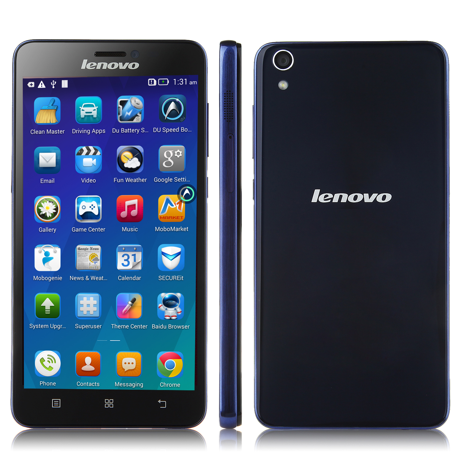 Lenovo S850 Smartphone Android 4.4 Glass Shell 5.0 Inch Gorilla Glass 16GB Dark Blue