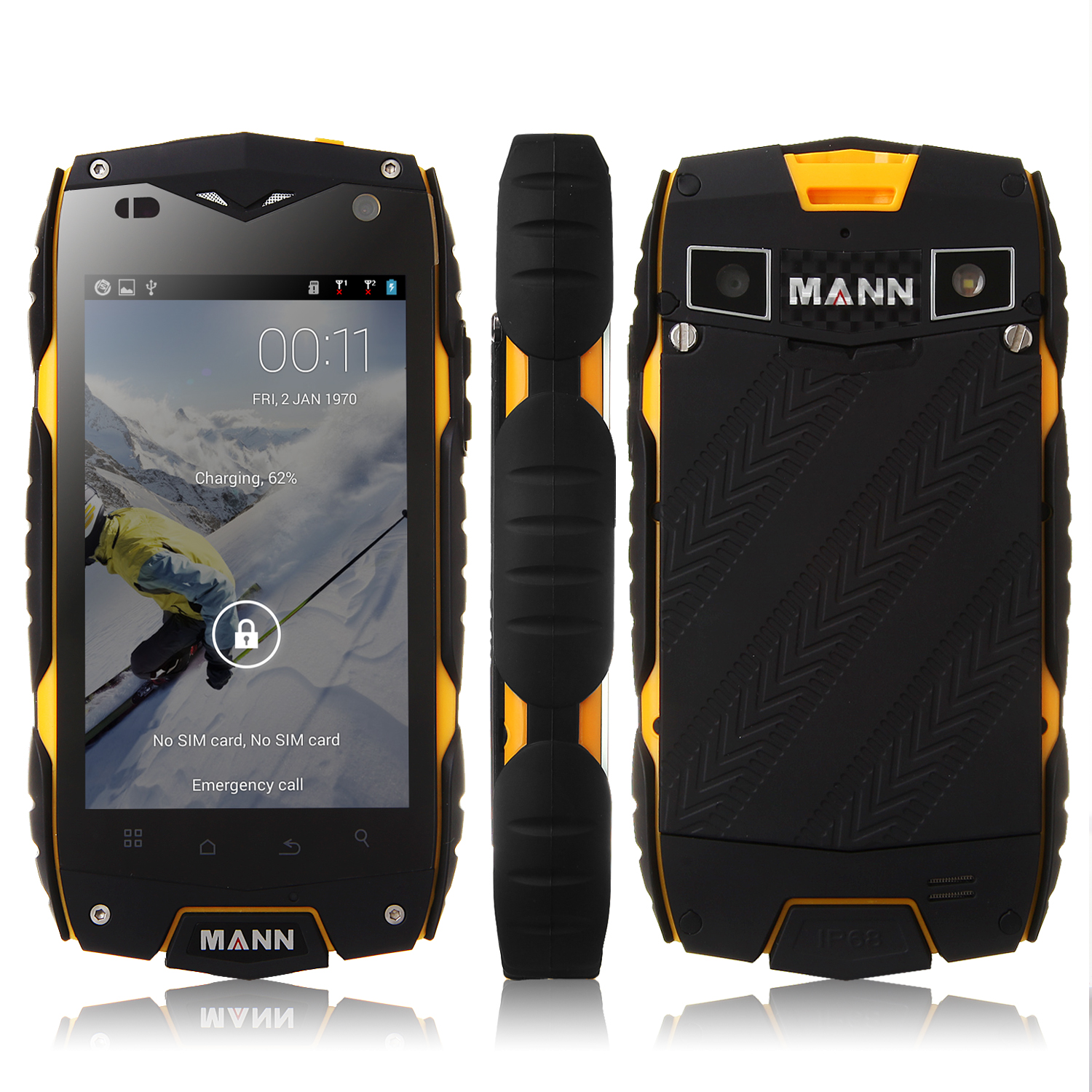 MANN ZUG 3 Smartphone IP68 Android 4.3 Qualcomm MSM8212 Quad Core 4.0 Inch 3G GPS