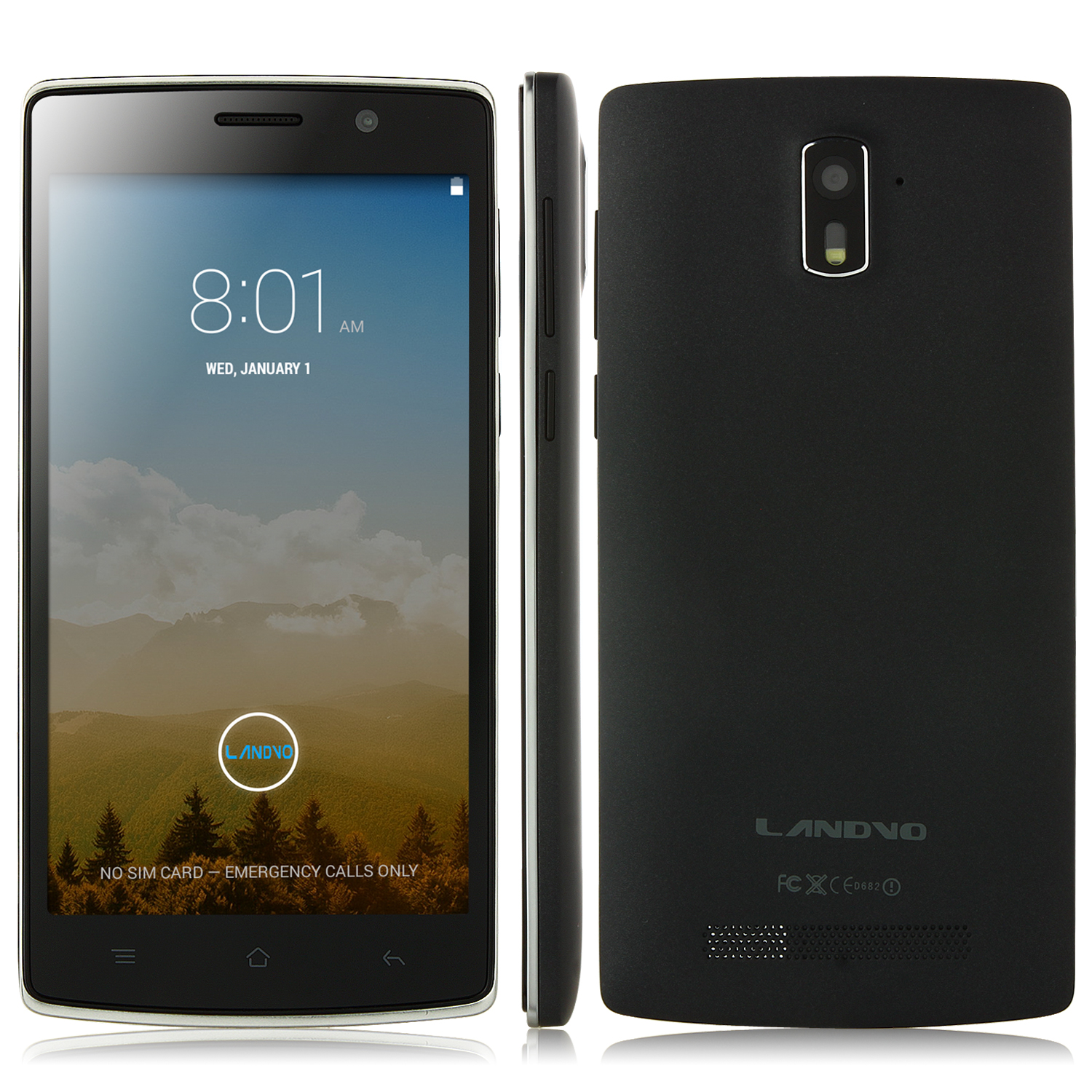 LANDVO L200 Smartphone Android 4.4 MTK6582 5.0 Inch QHD Screen 3G Smart Wake Up Black