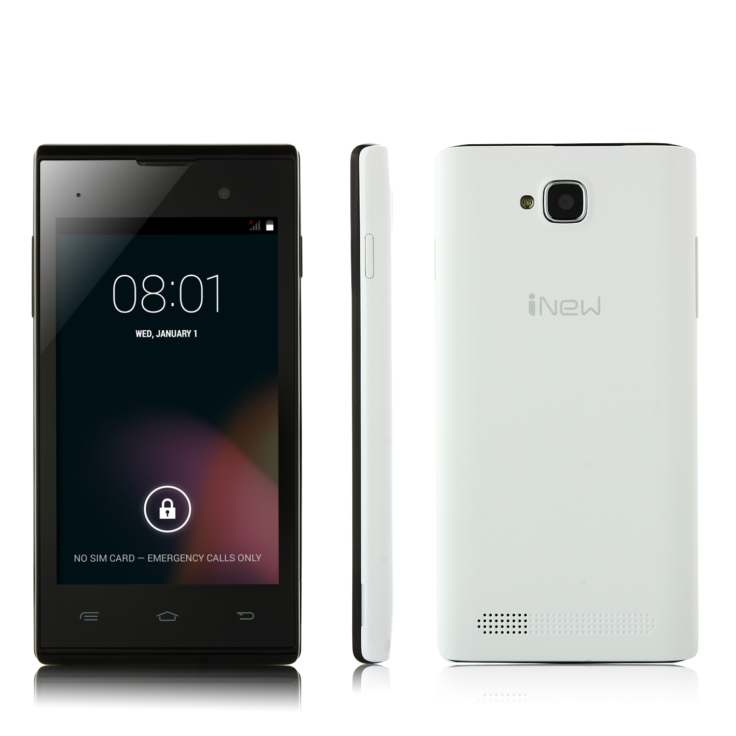 iNew U1 Smartphone Android 4.4 MTK6572M Dual Core 4.0 Inch 3G GPS White