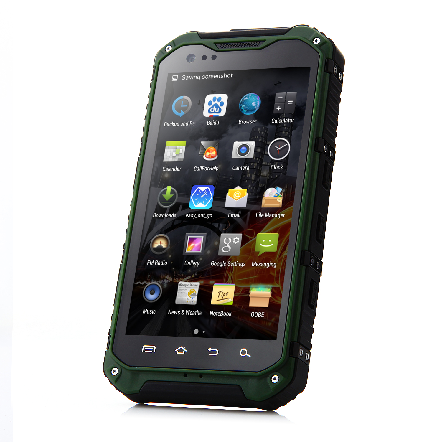 Tengda A9 Smartphone Android 4.4 MTK6582 4.3 Inch IP68 2GB 16GB NFC OTG 3G Green