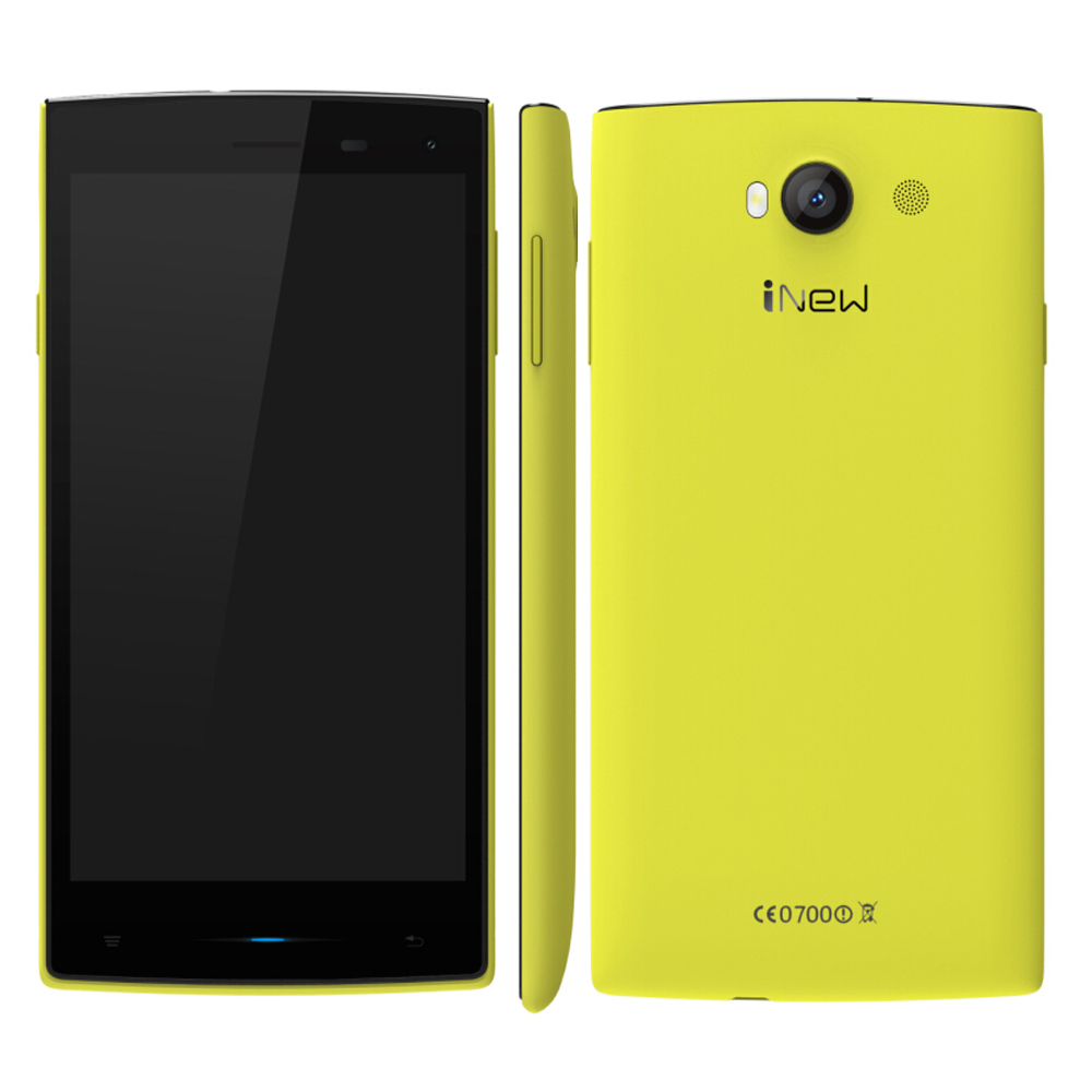 iNew V1 Smartphone Android 4.4 MTK6582 5.0 Inch 1GB 8GB 3G Yellow