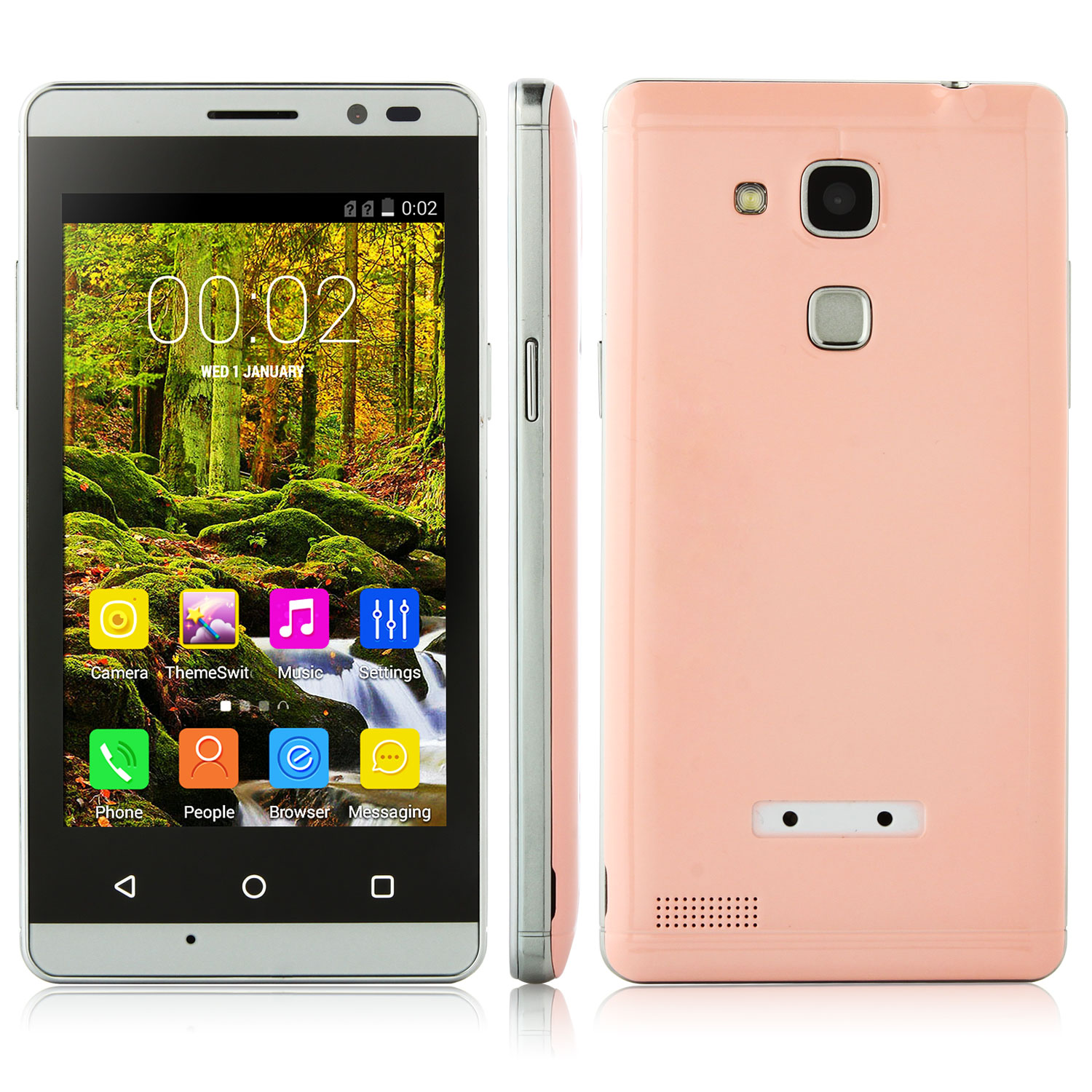 Tengda Q5 Smartphone Android 4.4 MTK6572W 4.0 Inch 3G Pink