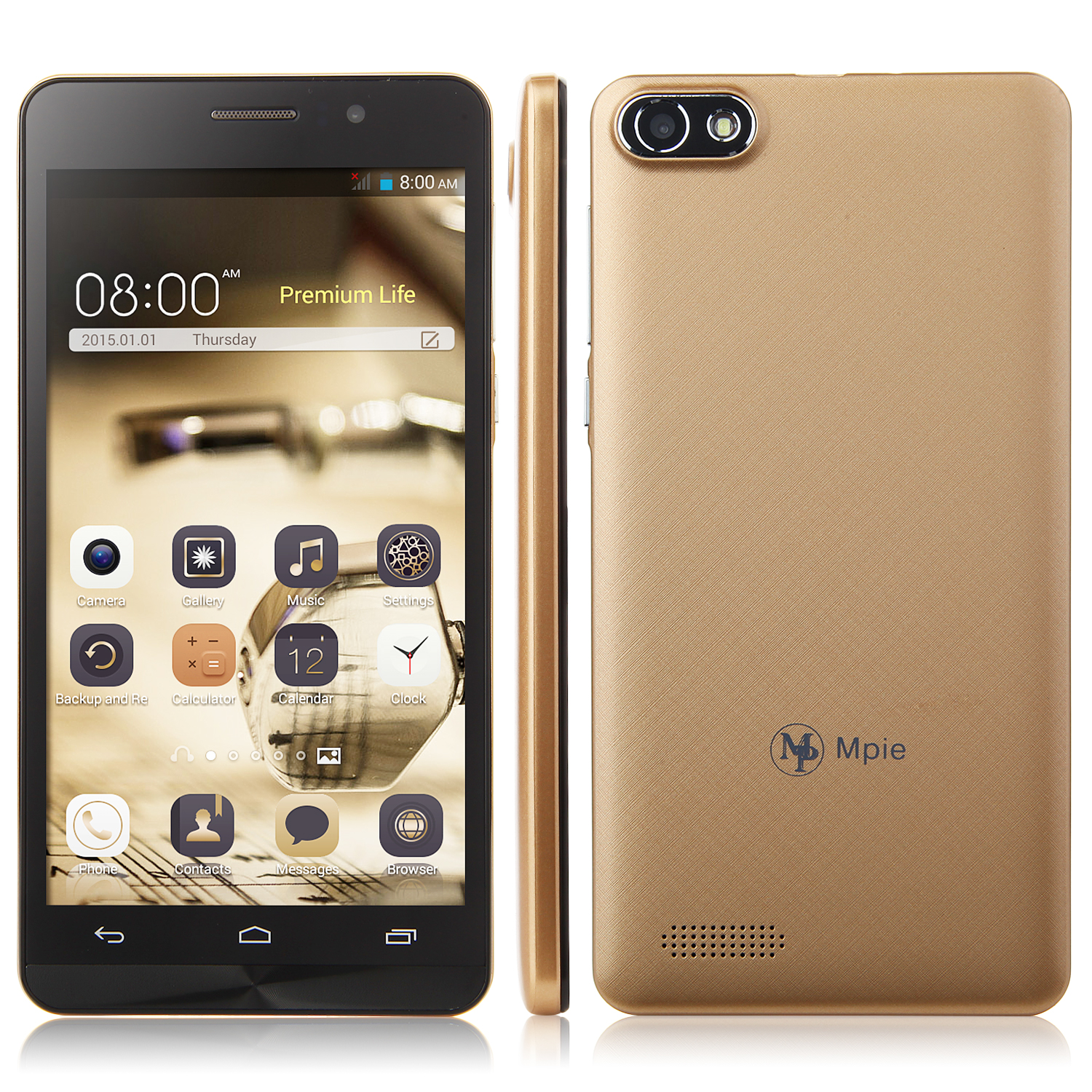 Tengda Z6 Smartphone Android 4.4 MTK6572W 5.5 Inch QHD Screen Smart Wake Gold
