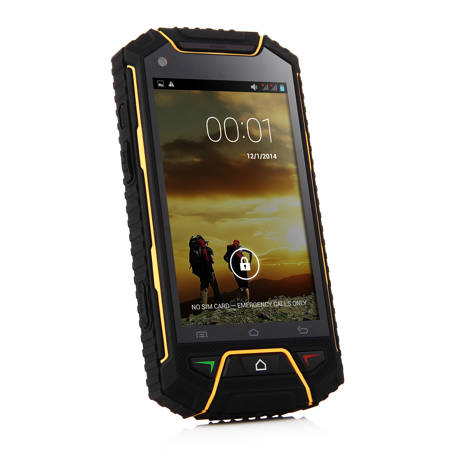 Tengda V6 Smartphone IP68 Android 4.2 MTK6572W 4.0 Inch PTT SOS Black&Yellow