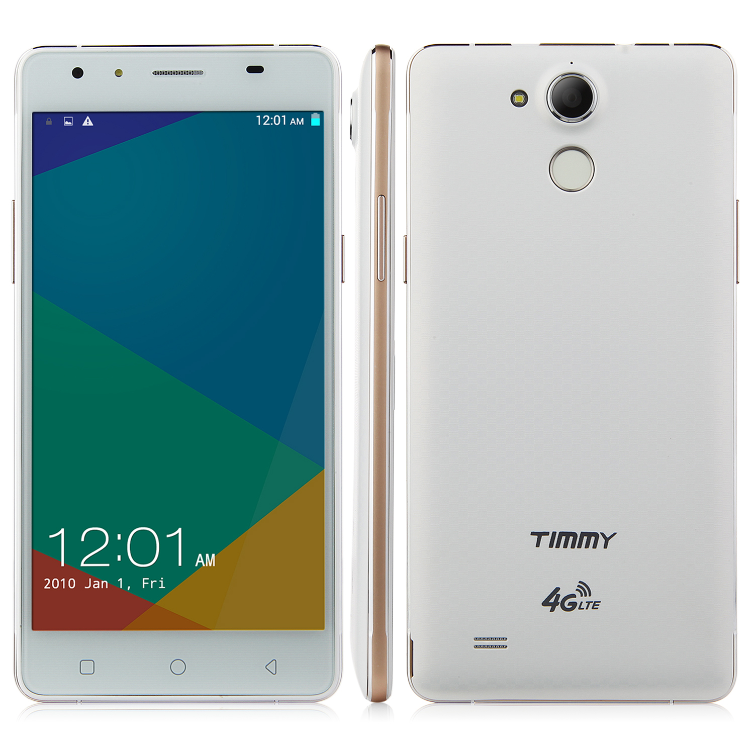 Timmy P7000 Plus 4G Smartphone 64bit MTK6732 Quad Core 5.5 Inch HD Screen White&Gold