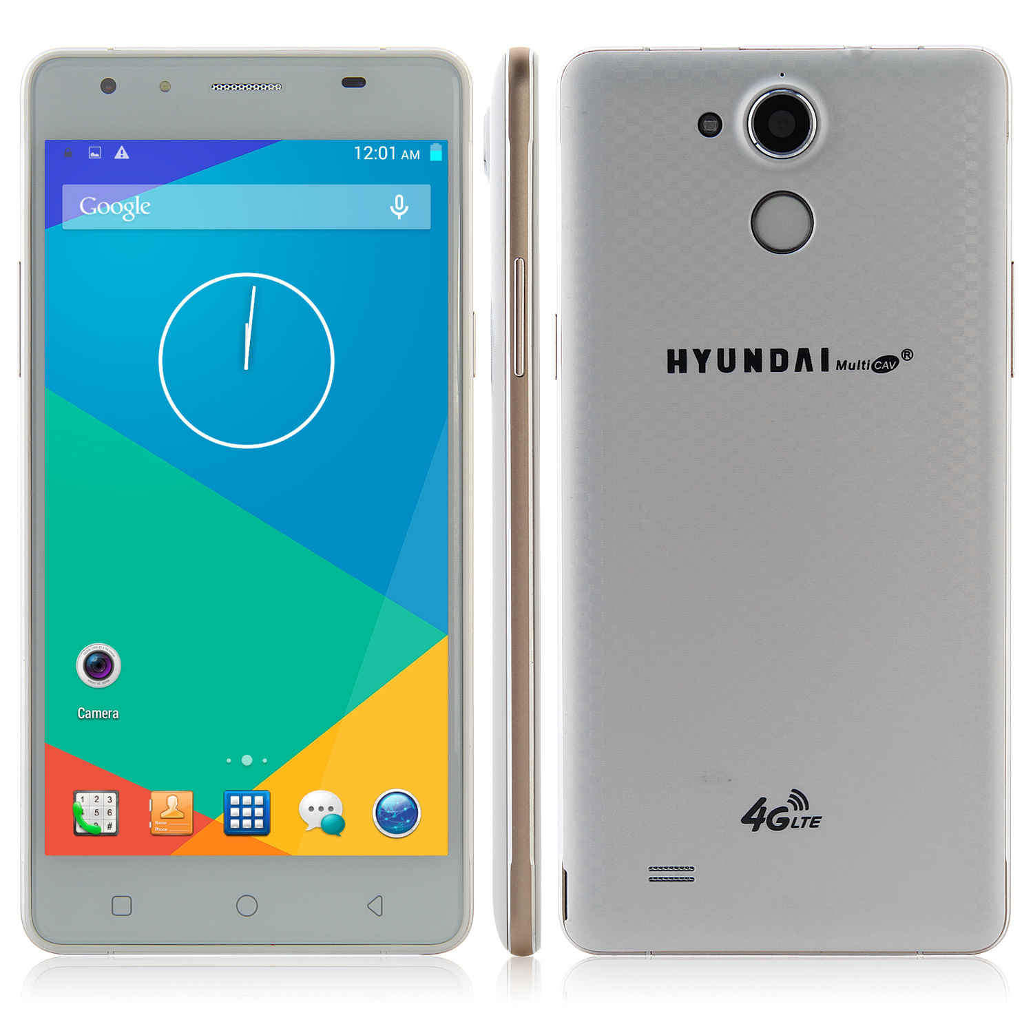 HYUNDAI Q6 4G Smartphone 64bit MTK6732 Quad Core 5.5 Inch HD Screen 3300mAh White