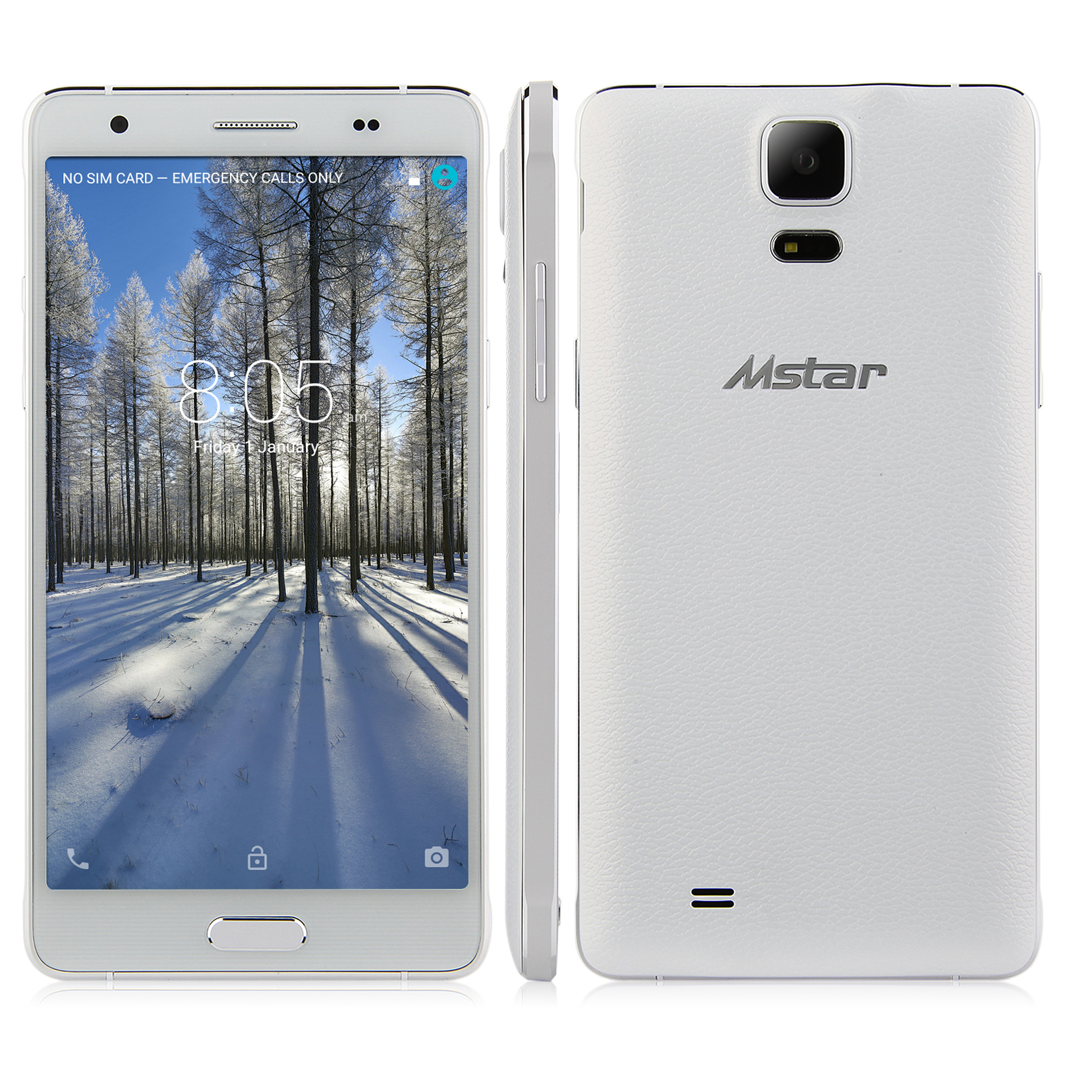 Mstar M1 4G Smartphone Android 5.0 MTK6752 Octa Core 1GB 16GB 5.5 Inch HD Screen White