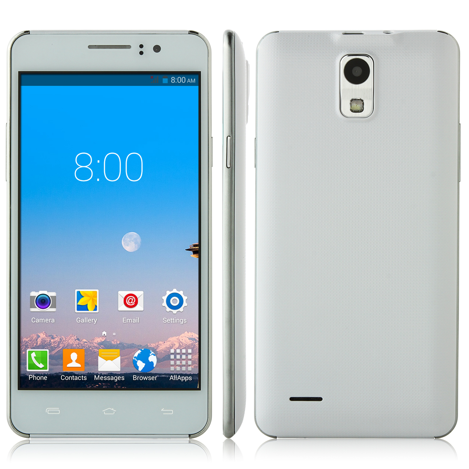 P7 Smartphone 5.0 inch QHD Screen MTK6572W Android 4.4 Smart Wake White