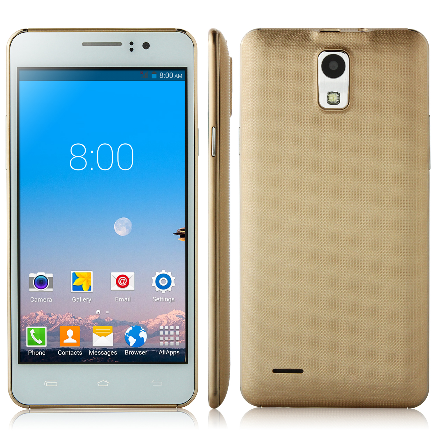 P7 Smartphone 5.0 inch QHD Screen MTK6572W Android 4.4 Smart Wake Gold