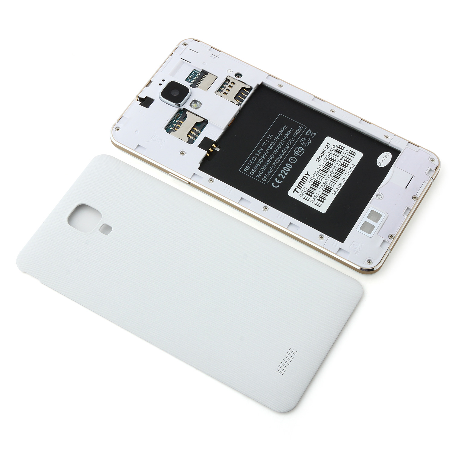 Timmy M7 Smartphone 5.5 inch HD Screen MTK6592M Octa Core 1GB 8GB Android 4.4 White