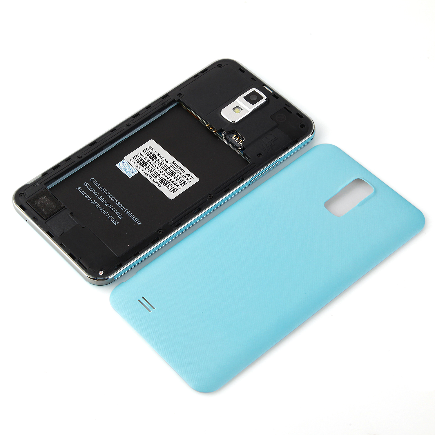 A7 Smartphone 5.5 inch QHD Screen MTK6572W Android 4.4 Smart Wake Blue
