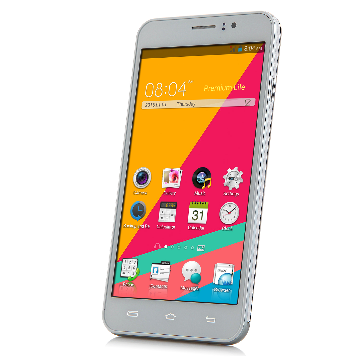 A7 Smartphone 5.5 inch QHD Screen MTK6572W Android 4.4 Smart Wake White