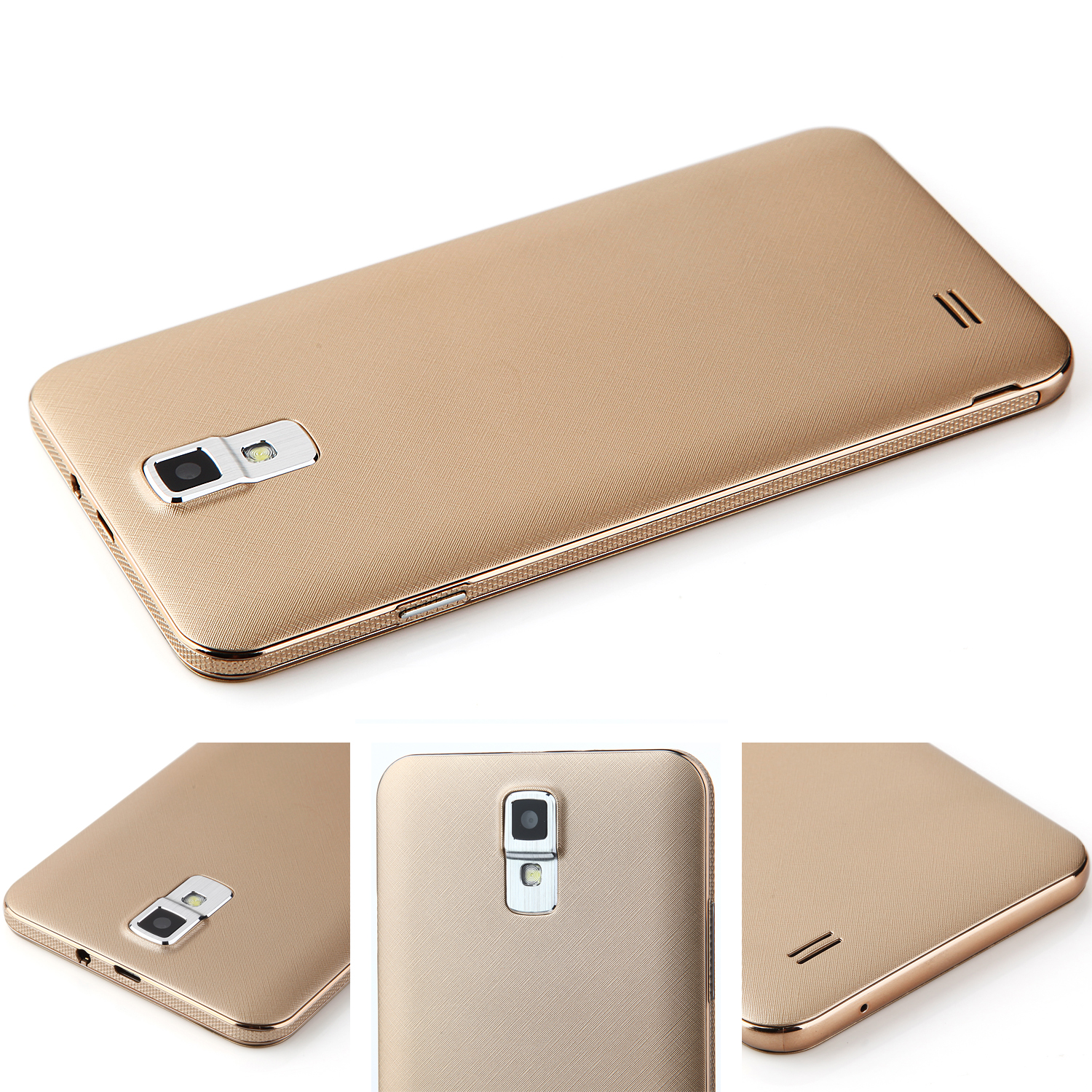 A7 Smartphone 5.5 inch QHD Screen MTK6572W Android 4.4 Smart Wake Gold